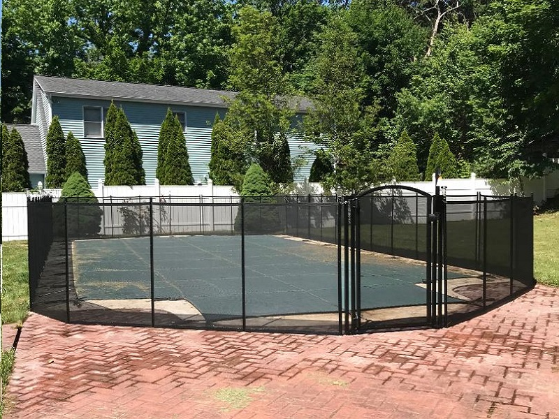 95ft black swimming pool fence Rye, NY