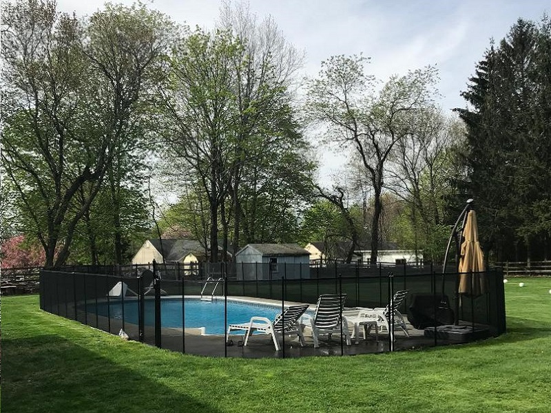 removable mesh pool fence installation Rye, NY