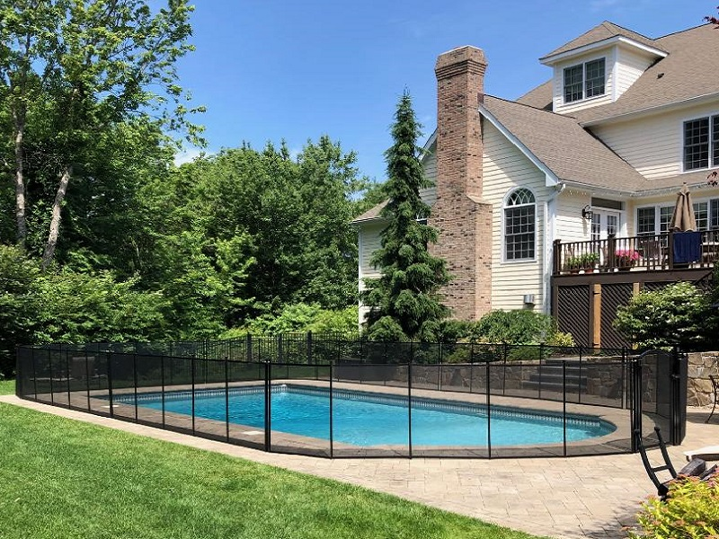 mesh pool safety fence installation Bedford, NY