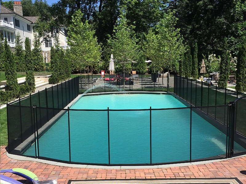 Life Saver removable mesh pool fence installed in New Rochelle, NY
